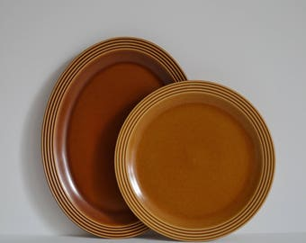 Large oval shaped serving dish from the classic vintage Hornsea Saffron range from the 70's.