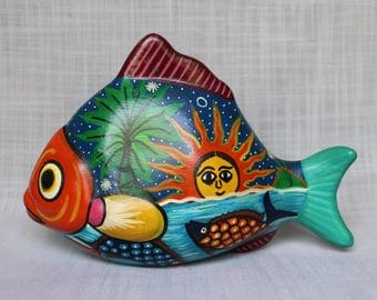 Folk Art Fish Etsy