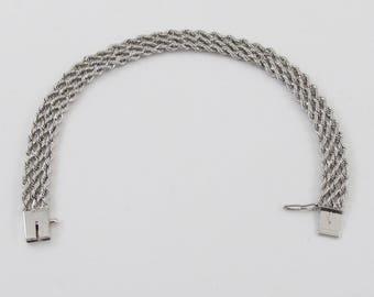 """14k White Gold Rope Bracelet 6 1/2"""" 9 grams - White Gold Women's Bracelet"""