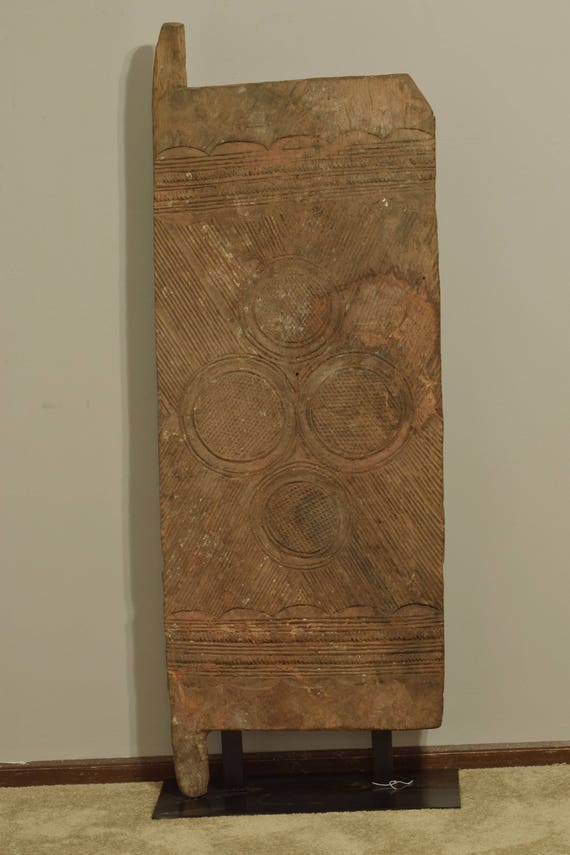 African Door Nupe Wood Nigeria Handmade House Door Geometric Relief Spiritual Wealth Happiness Nupe Door