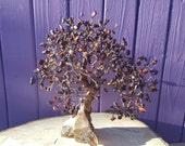 RESERVED - Tiger's Eye Gem Tree, Smoky Quartz Cluster, Crystal Healing, Wrapped Wire, Gemstone Home Decor, Spiritual Decoration
