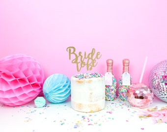 Hen Party cake topper - Bride to Be cake topper for bachelorette parties - personalised cake topper - hen party decoration - Bride Tribe