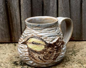 Carved Warbler Jug