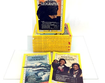 Lot 19 National Geographic Magazines Issues 60's 1965 1968 1969 Vintage Set