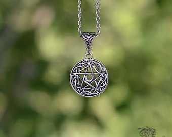 """Necklace """" Spell """" - Medieval , Gothic , Fantasy , Wicca , Pagan , Celtic , Occult , Spiritual"""