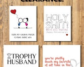 CLEARANCE! Funny Love Anniversary Greeting Cards / Card w envelope / Anniversary Love Valentines Day Boyfriend Girlfriend Fiancee Same Sex