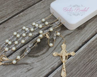 FAST SHIPPING!! Silver or Gold Beautiful Wedding Lasso, lasso with pearls,  Silver Wedding Lasso, Gold Wedding Lasso, Anniversary Lasso