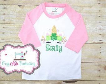 Unicorn Shirt, St. Patrick's Day shirt, St. Patty's day shirt, Saint Patrick's Day shirt, Saint Patty shirt, Unicorn Applique, Embroidery