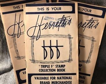 Vintage Stamp Saver Books