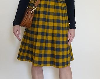 Vintage Plaid Skirt US 2/ Small