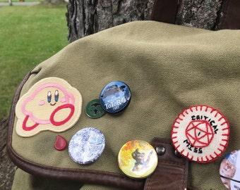 "Handmade ""Critical Miss"" Nat 1 Merit Badge Pin"