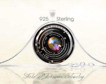 ANTIQUE GRAFLEX CAMERA Lens Pendant Graflex Camera Lens Necklace Gifts for Photographers Graflex Camera Lens Jewelry Gift Sterling Silver