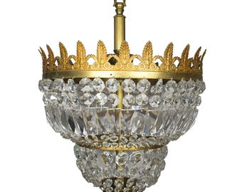 Antique Chandelier Art Deco Chandelier Vintage Chandelier Antique Lighting Crystal Chandelier Italian Chandelier Empire chandelier