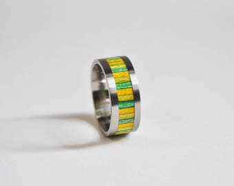 Titanium and recycled skateboard ring