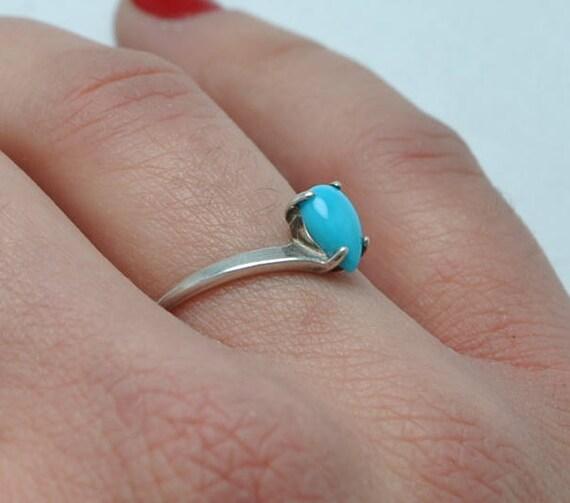 Native american ring, turquoise ring, vintage ring, boho ring, ethnic ring, navajo ring, drop ring, native american jewelry, vintage jewelry