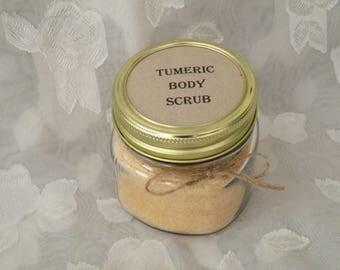 Tumeric body scrub