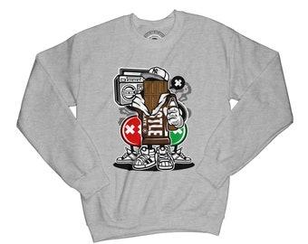 Chocolate sweatshirt husbte sweather funny sweatshirt graphic sweatshirt grafitty sweatshirt urban sweatshirt music sweatshirt  APV50