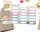 Bill Due Planner Stickers - Quarter Box Planner Stickers - Bill Due Glitter Stickers - Bill Tracking Stickers - Budget Stickers - 1080