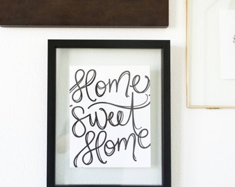 Home Sweet Home Hand-lettered Print