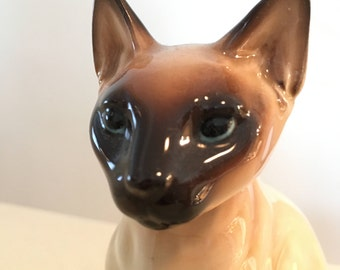 Vintage Ceramic Siamese Cat Figurine Norcrest Japan A871