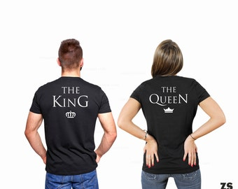 The King The Queen T-shirt, Couple t shirts, Couple tshirt, couples shirts the king the queen Valentine's Day gift, Valentine's Day