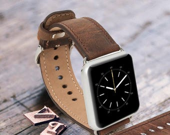 Antic brown leather Apple watch band, 42mm, 38mm, Leather watch band, Apple watch leather band, Apple watch series 1,2 and 3