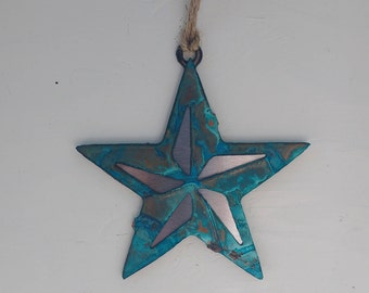 Patina Small Star Ornament