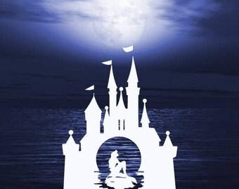 Mermaid and Castle Decal   Mermaid
