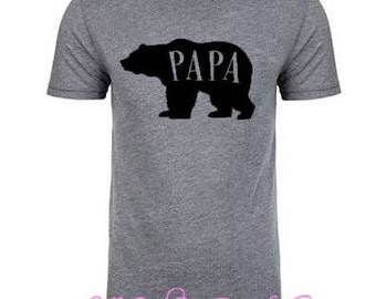 Papa Bear shirt, New dad shirt, Father's Day gift, Gift for him, Pregnancy announcement shirt,