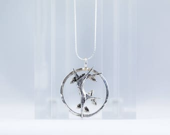Dancing Tree Necklace in .925 Sterling Silver