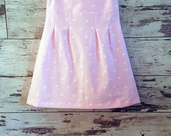 Pink summer dress, Vintage Girls Dress, Girl dress, Kids Clothes, Girls Clothes, Summer Cotton Dress, Holiday clothes, Wedding kids outfit