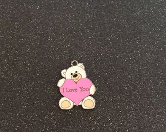 I love you Teddy Bear charm, Teddy Bear charm, I love you charm