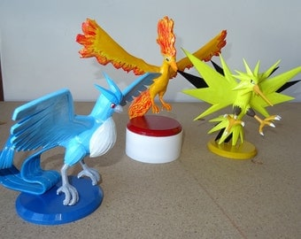 Legendary Birds,Pokemons, 3d printed and hand painted