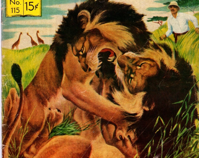Classics Illustrated #115 (HRN 116) VG-FN How I Found Livingstone 1954 Sir Henry M. Stanley Rare First Edition