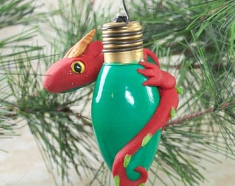 Dragon Ornament, Christmas Dragon Ornament, Dragon Christmas Ornament, Christmas Tree Decor, Red Dragon, Fantasy Ornament, Christmas Dragon