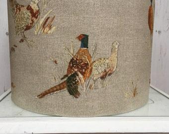 NEW Lampshade ceiling/table Country Pheasant Fryetts 20cm, 30cm, 40cm handmade