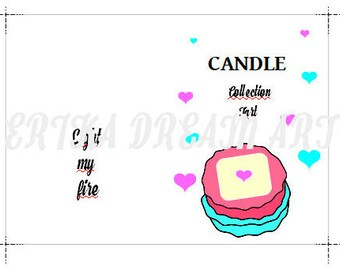 refill A6 planner/Candle collection/ PDF