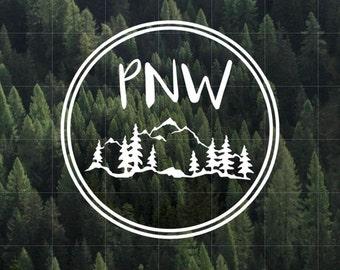 PNW Vinyl Decal | Pacific Northwest Vinyl Decal | Yeti Decal | Car Decal | Upper Left USA | Water Bottle Decal | PNW | Oregon | Idaho