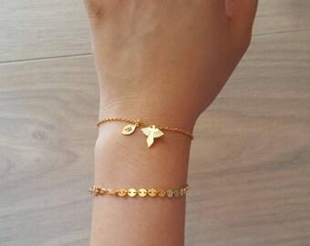 Delicate Petite Eagles Bracelets,Delicate Eagle bracelet,Phoenix bracelet,Bird bracelet,Bridesmaid gift,initial bracelet, Layering Bracelet