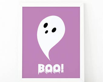 Boo Ghost halloween, Halloween Wall Art, Boo Sign, Boo Print, Halloween Decor, Halloween Decoration, Halloween Prints, Halloween art, Ghost