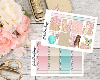 Magical Fairies Weekly Kit Planner Stickers - For Erin Condren Life Planner