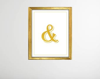 And Sign Art Print Accent Free 5x7 Plus 5x5