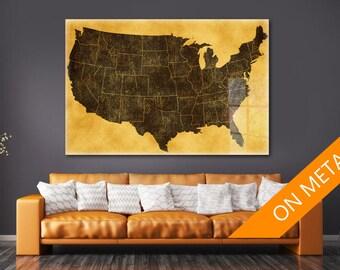 Usa Map Wall Art Etsy - Us map wall art