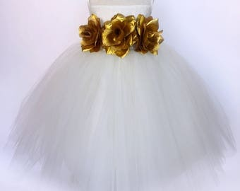 Orange Ivory Lace Bias 4 Layer Tulle Flower Girl Gown Recital Pageant Wedding Recital Pageant Bridesmaid Size 2 4 6 8 10 12 14 16 Holiday
