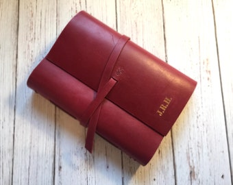 A5 Personalised Leather Notebook, Leather Journal, Leather Travel Journal, Anniversary Gift, Gift for Father, Gift for Him, Gift for Husband