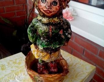 Paper mache doll Lola