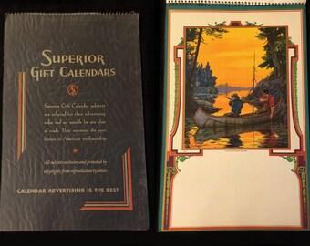Large Vintage Calendar