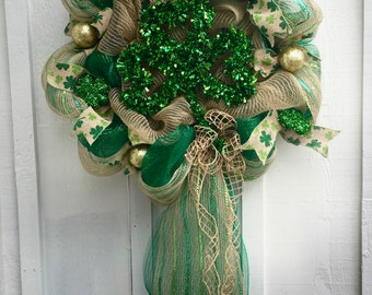 Three Leaf Clover St. Patrick's Day Wreath