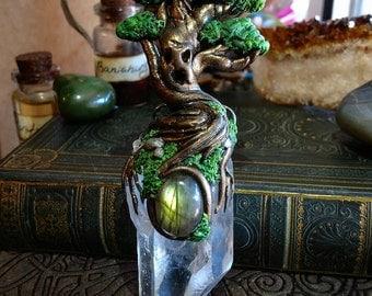 Tree Spirit Guardian/quartz pendant/treeoflife