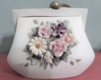 Lefton -Made in Japan. Purse Shaped Planter.
